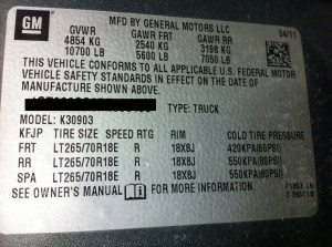 truck tire, load rating, rating tag